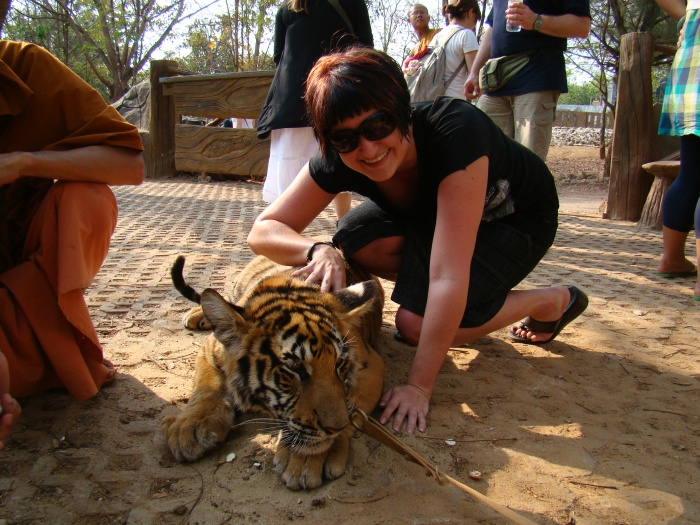 Me and tigers in Thailand