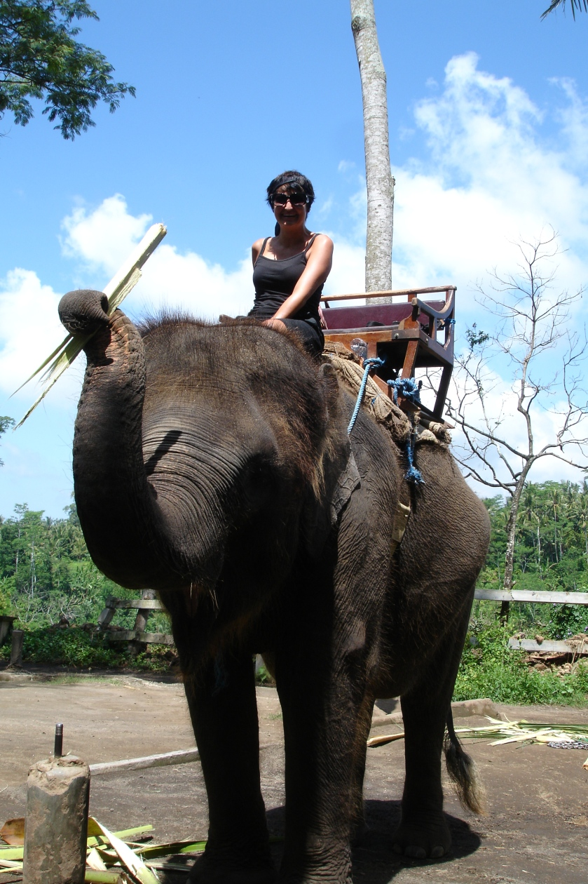 Me riding an Elephant in Bali