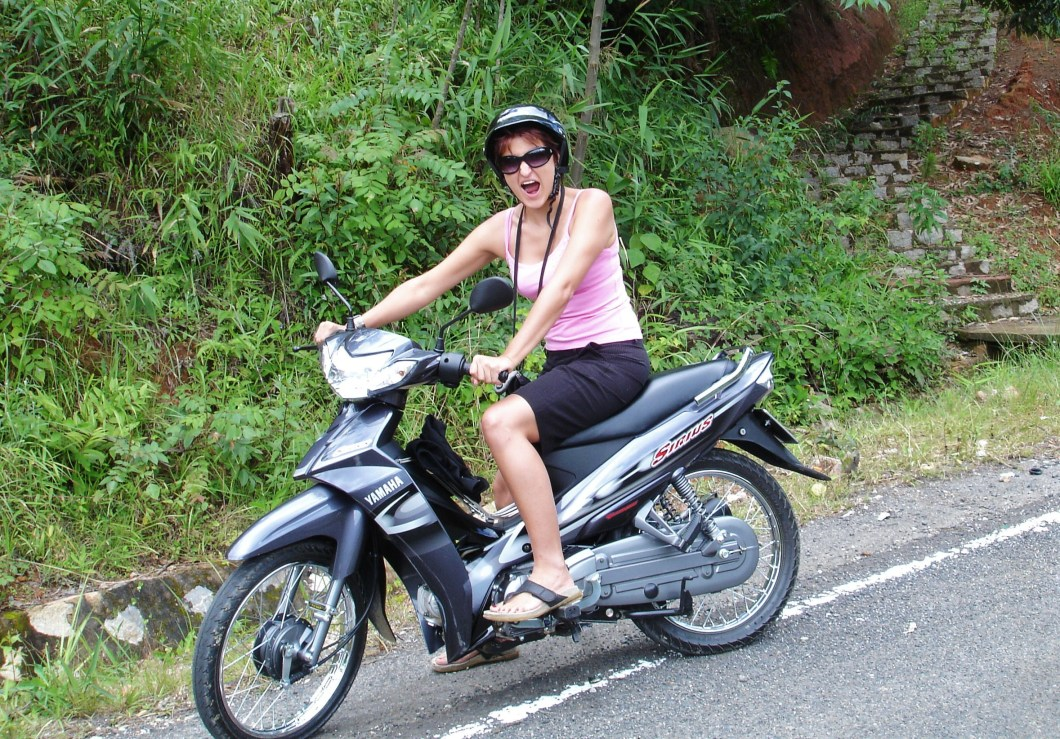 me on my bike in Vietnam