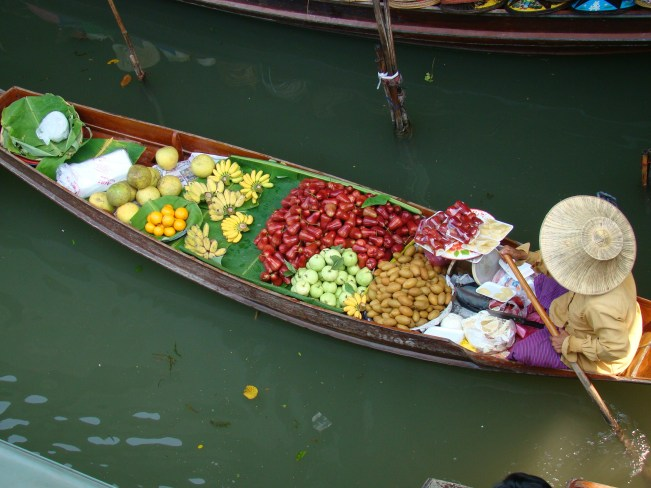 The Floating Market is such a unique place