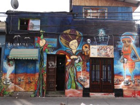 Exploring the graffiti covered streets of Santiago, Chile where I have just moved to!!