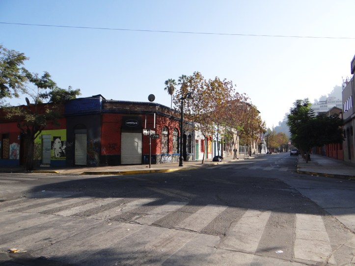 The streets of Santiago are deserted before 10am in the morning