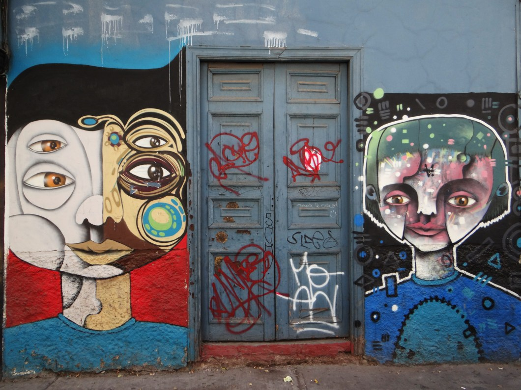 There are no signs visible of what actually goes on in these graffiti covered builings
