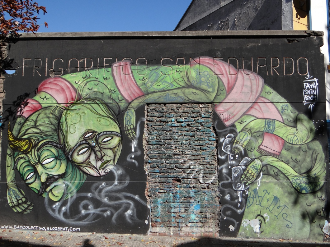 Santiago is covered with graffiti