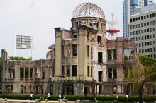A-Bomb Dome right at the centre of the bomb