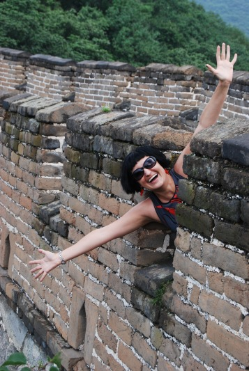 Me on the Great Wall of China!!