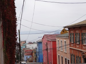The colourfully painted houses of Valparaiso