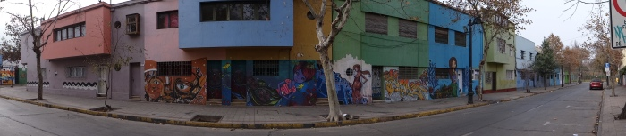 Santiago is filled with colour and street art