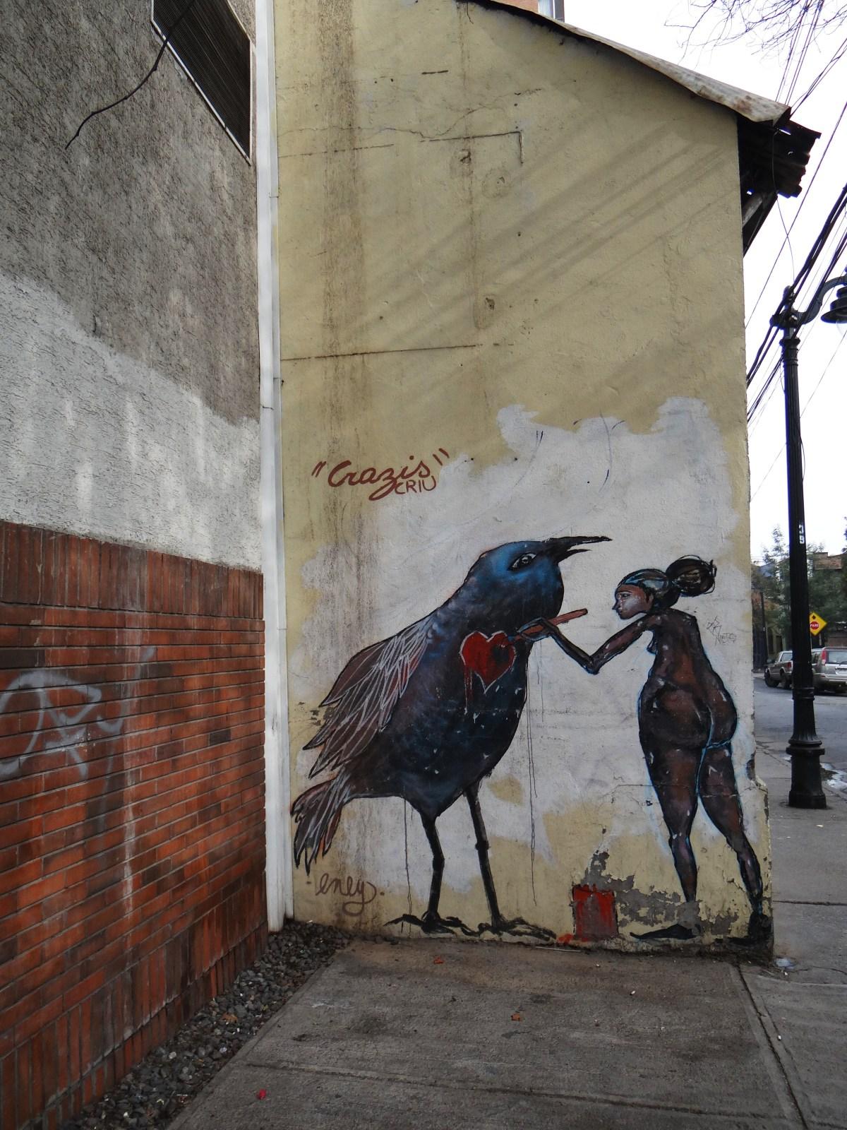 Goodbye graffiti filledSantiago!