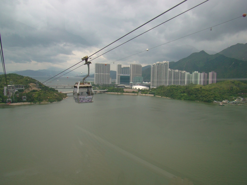 Our Cable car ride from Tung Chung to the Ngong Ping Plateau