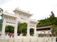 The entrance to Po Lin Monastery