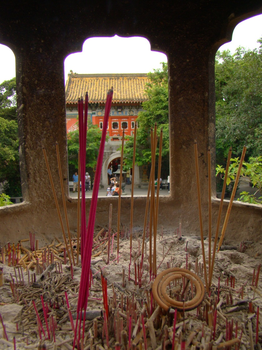 The whole monastery is filled with the fragrance of incense