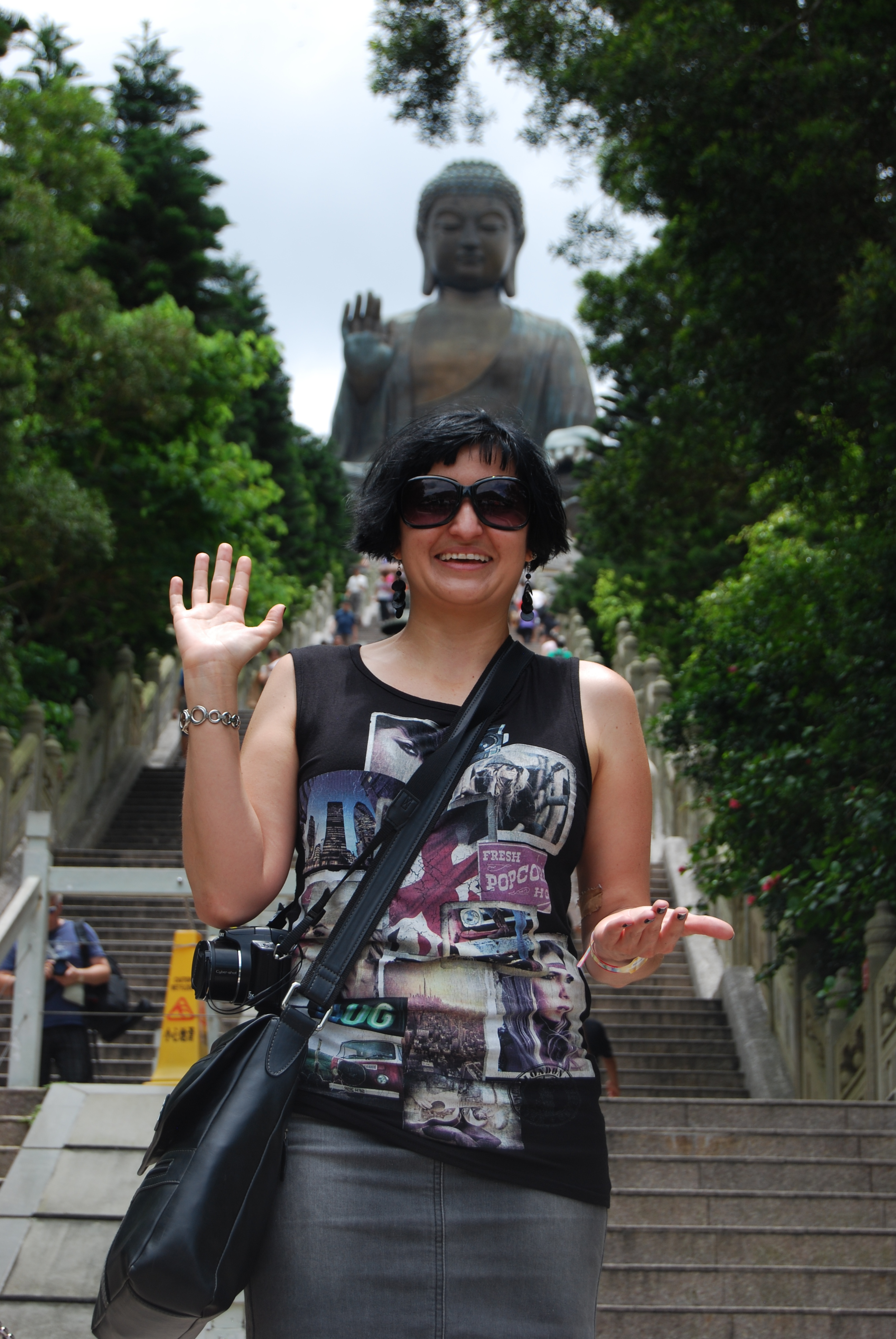 Lantau Giant Buddha and Po Lin Monastery of Hong Kong.