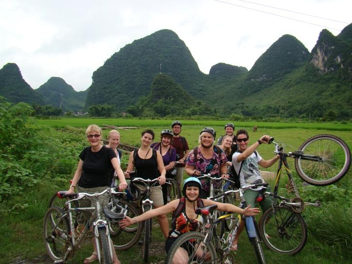 Group Cycling through the amazing Yangshuo Countryside