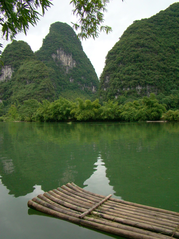 Pitstop next to the beautiful Yangshuo River