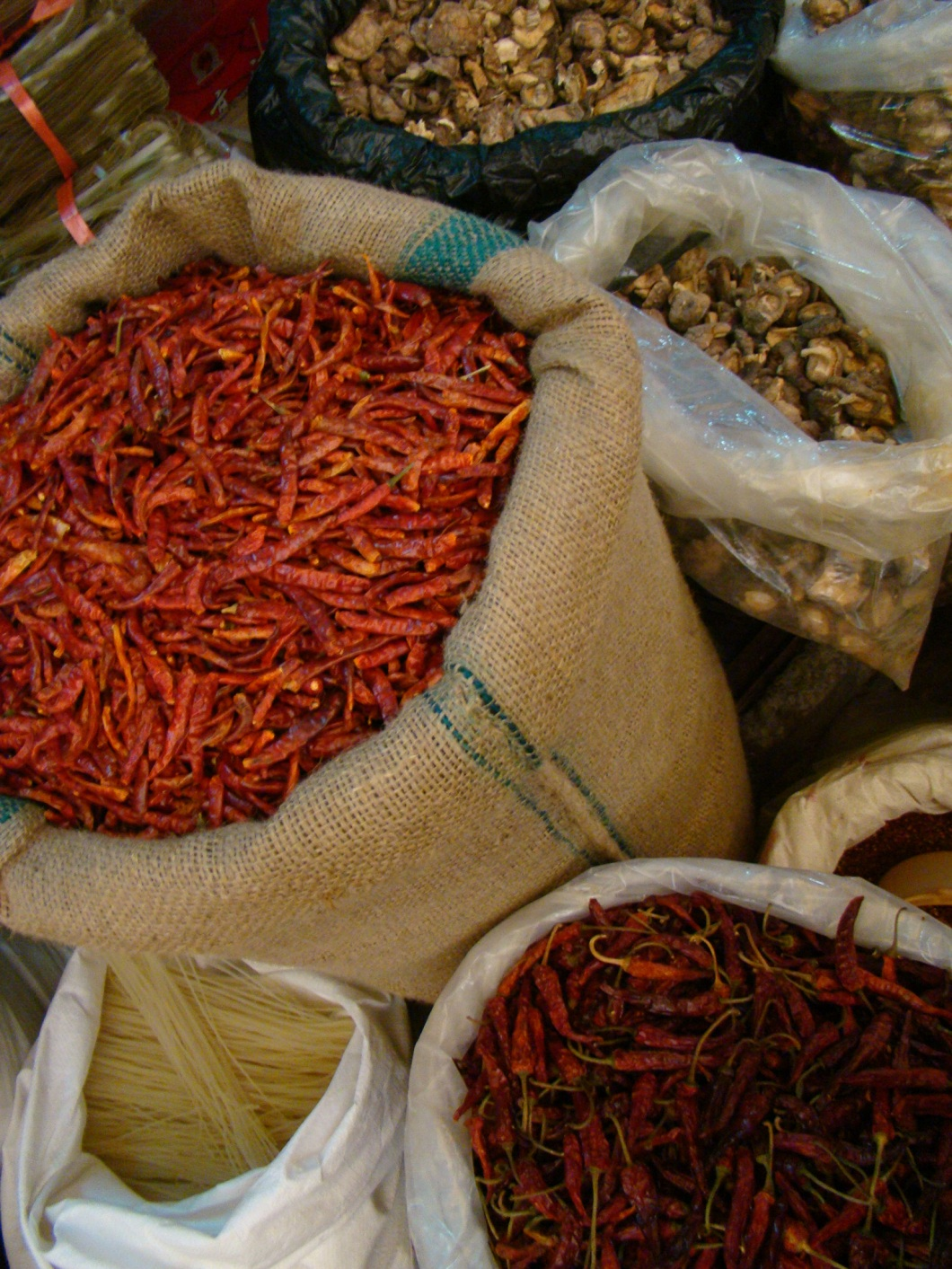 The air was filled with the aroma of chilies