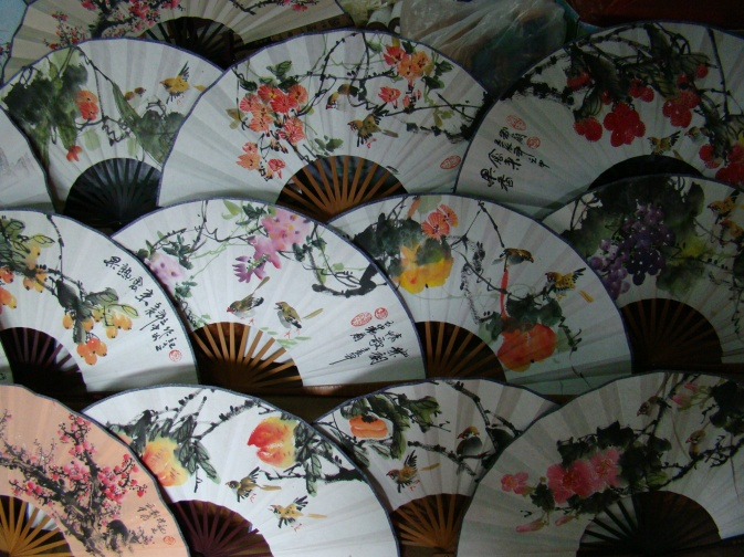 Hand-painted fans