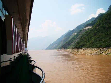 Cruising down the beautiful Yangtze River