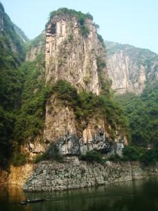 Sheer limestone cliffs