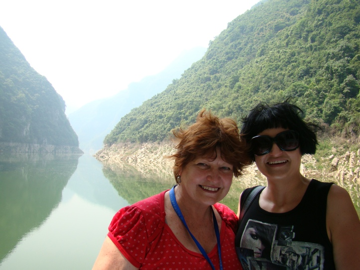Me and mom with the Lesser Gorges behind us