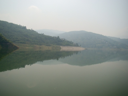 The huge Yangtze River