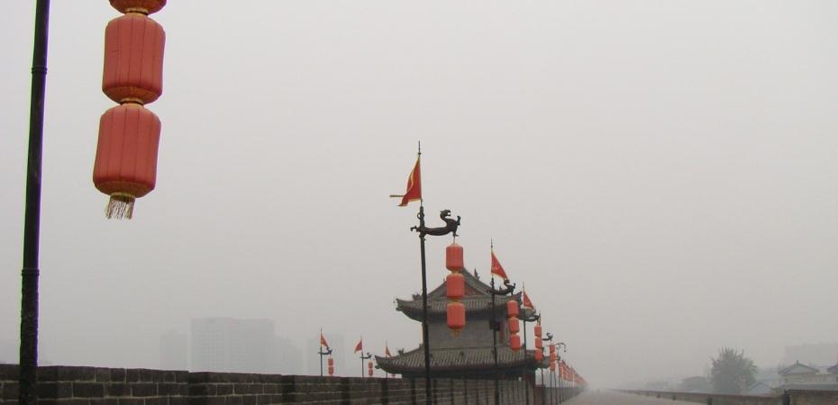 The Magnificent Mist covered Xian Wall