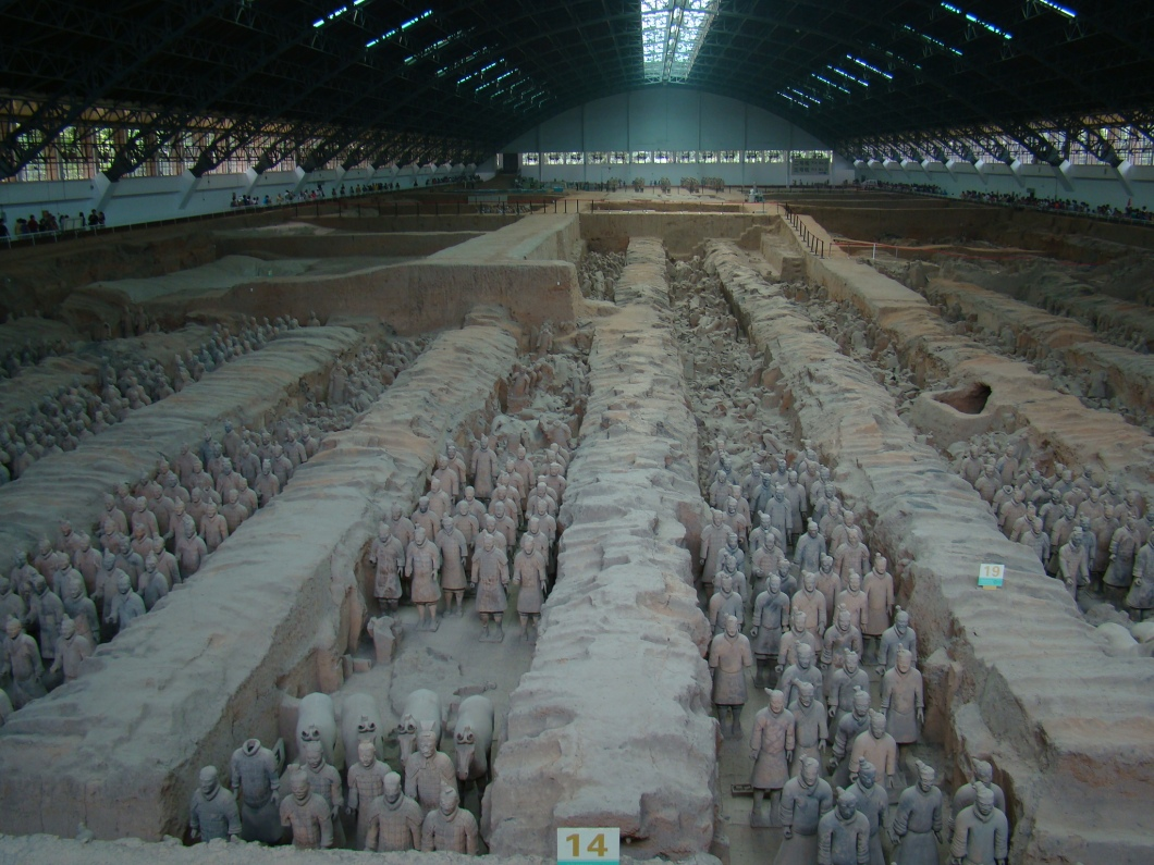 View of the Terracotta Army.