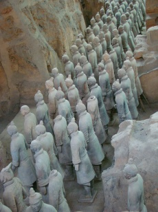 Rows of Terracotta Warriors