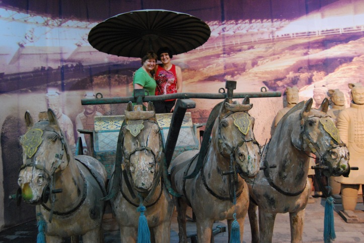 Me and mom on a Terracotta chariot!!