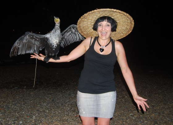 I got to have a Cormorant on my arm!!!