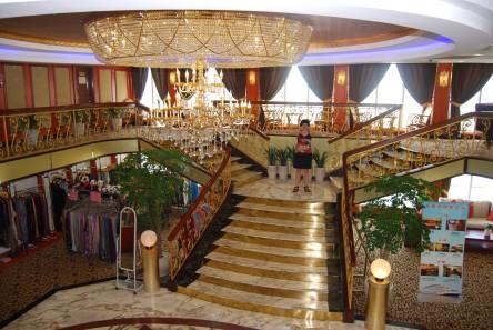 The luxurious lobby