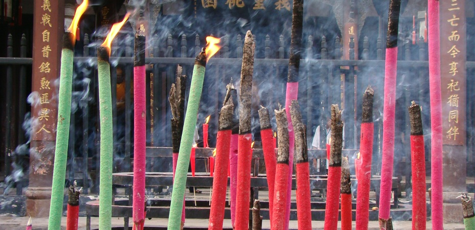 Wuhou shrine with its fragrant incense