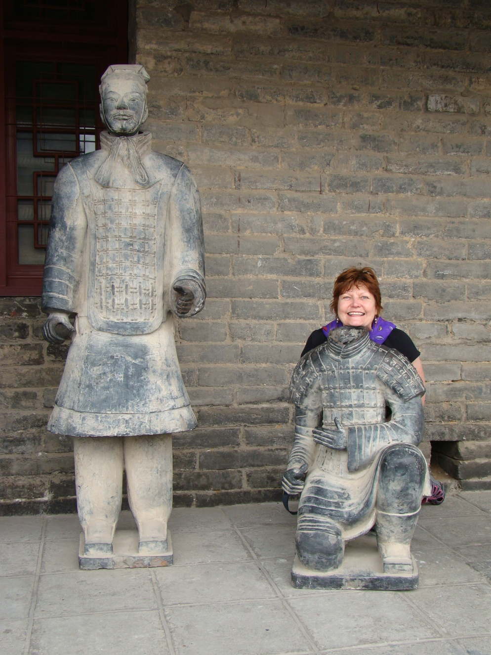 Mom being a Xian Terracotta warrior