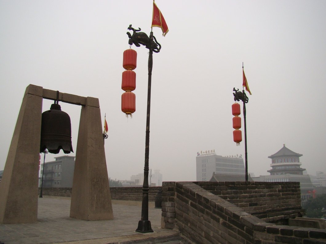 A war bell at the gate tower