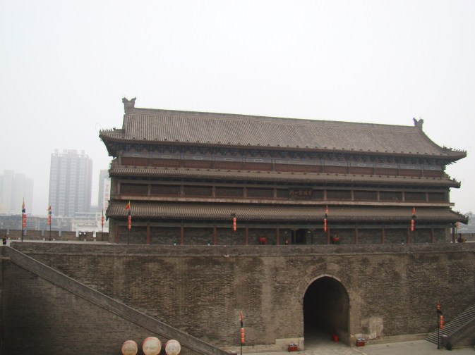 One of the gate towers