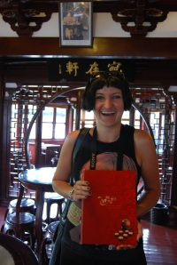 Me inside the Lacquere filled Teahouse