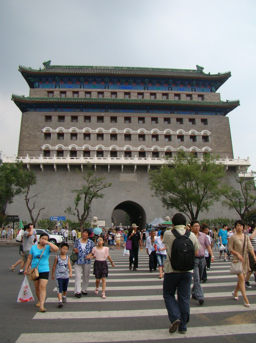 We entered Tiananmen Square through the south gate known as Qianmen
