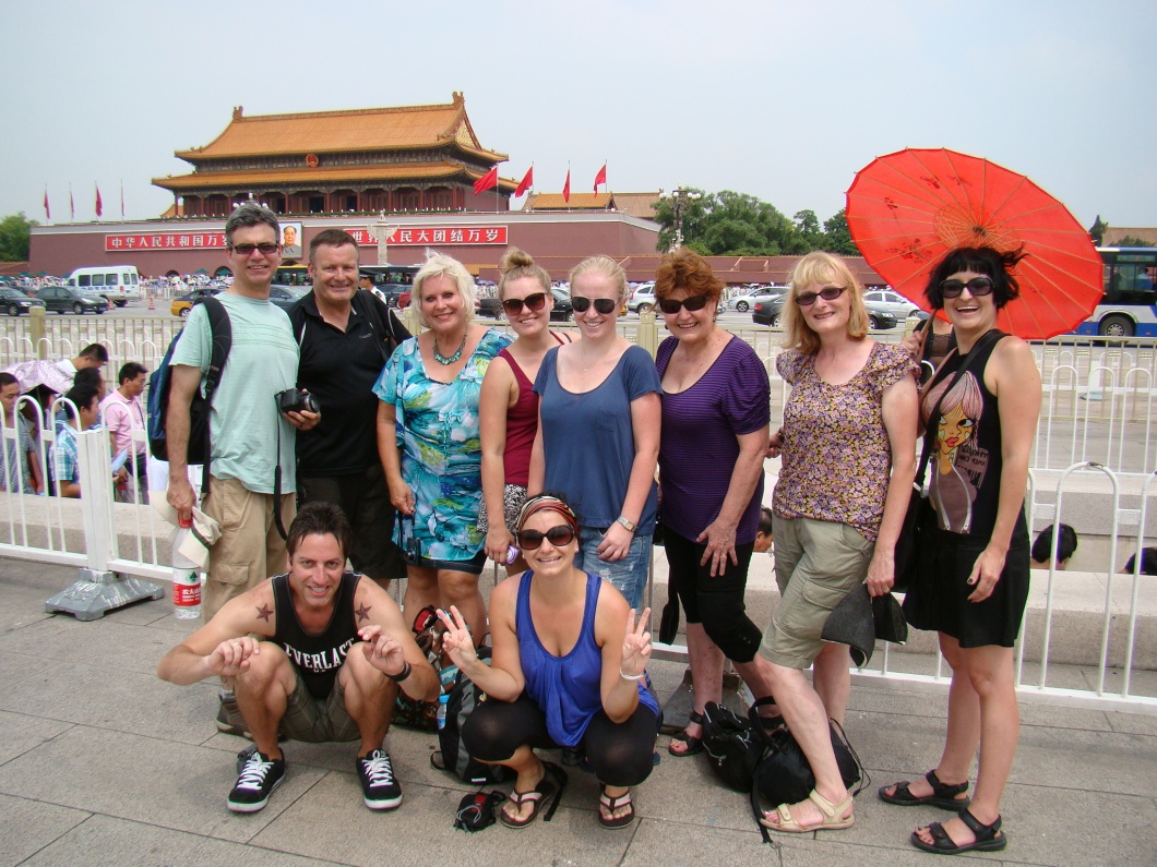 Our fabulous China Odyssey group infront of Tiananmen Gate to the Forbidden City