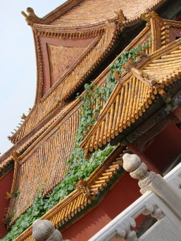 Yellow is the color of the Emperor. Thus almost all roofs in the Forbidden City bear yellow glazed tiles.