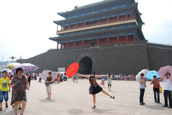 Standing infront of the south gate known as Qianmen