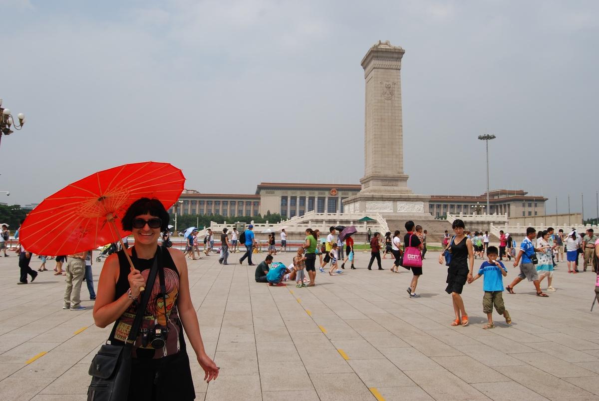 Walking across Beijing's TiananmenSquare