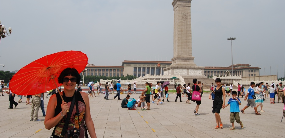 Walking across Tiananmen Square