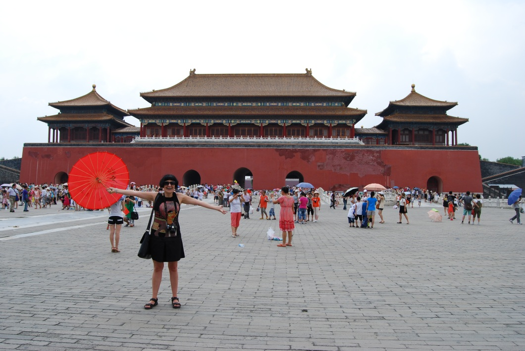 Me in front of the East Glorius Gates we just walked through to enter the Forbidden City.