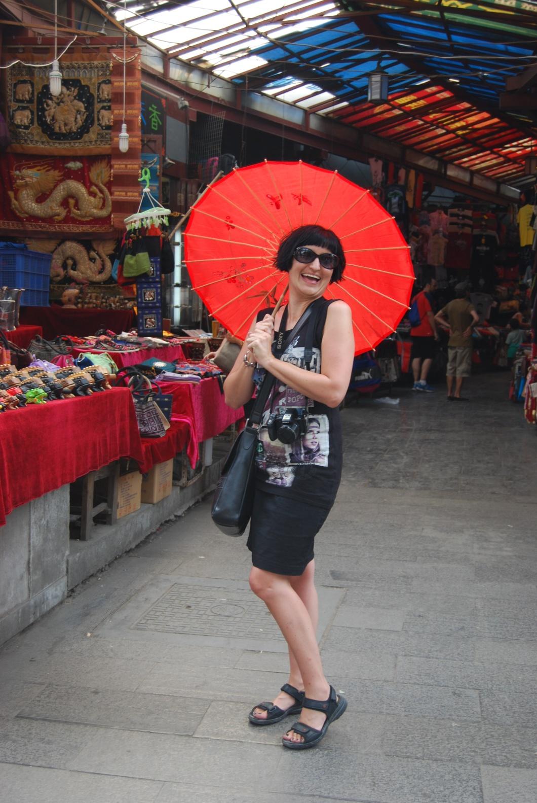 My new red Chinese Umbrella!!