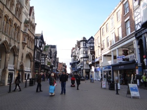 Walking through Chester