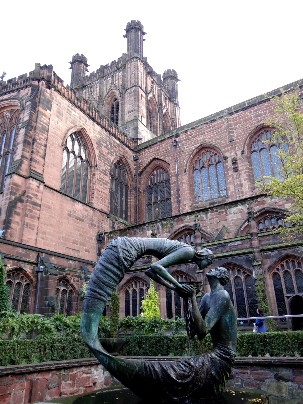 The Medieval Cathedral of Chester, England close to the border of Wales.