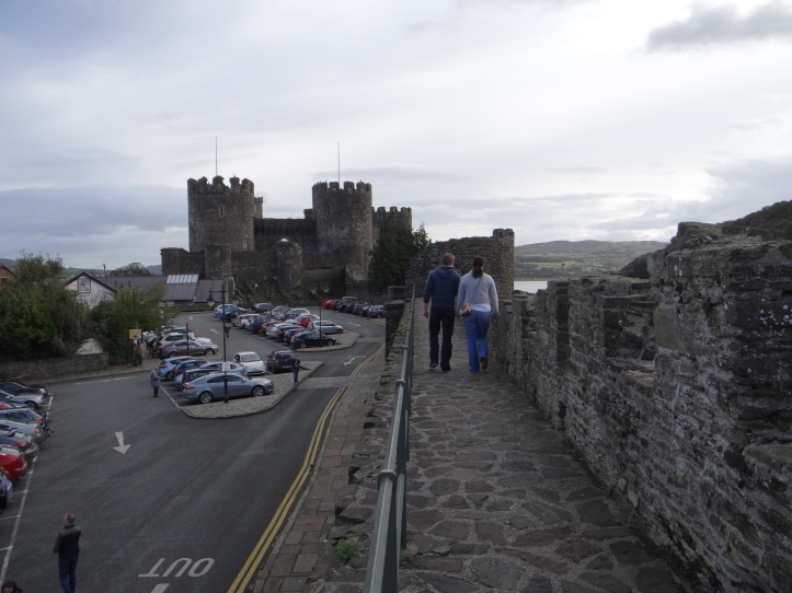east side of the walls next to ConwyCastle