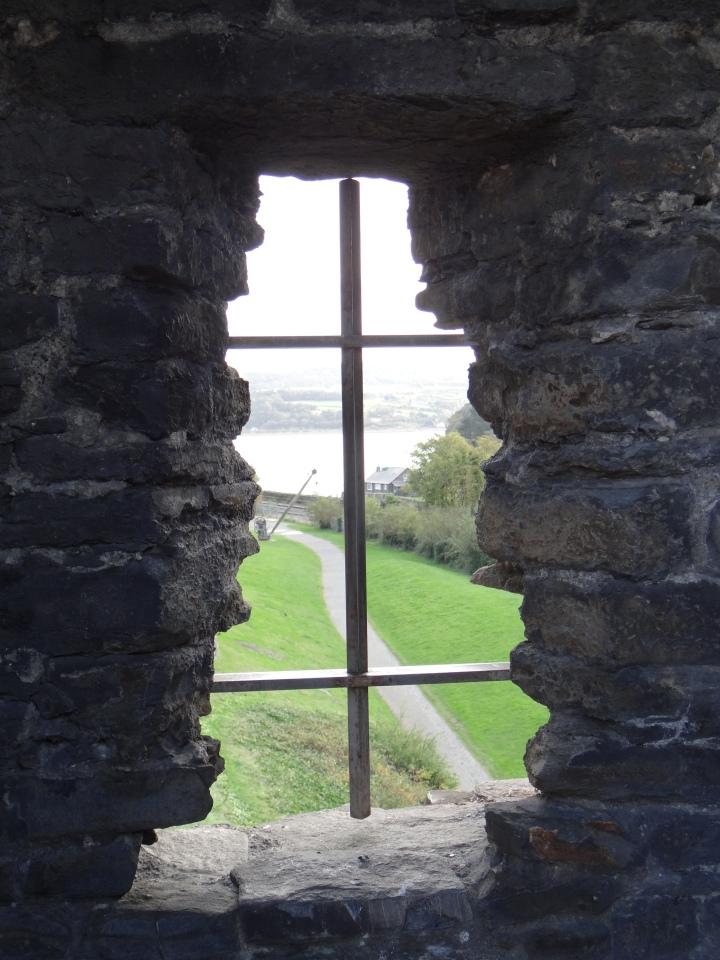 View of what lies beyond Conwy's town walls