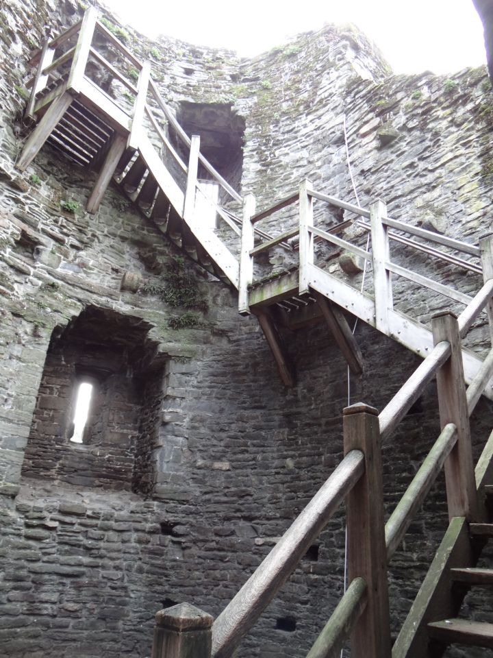 The staircase we climbed town to leave the wall