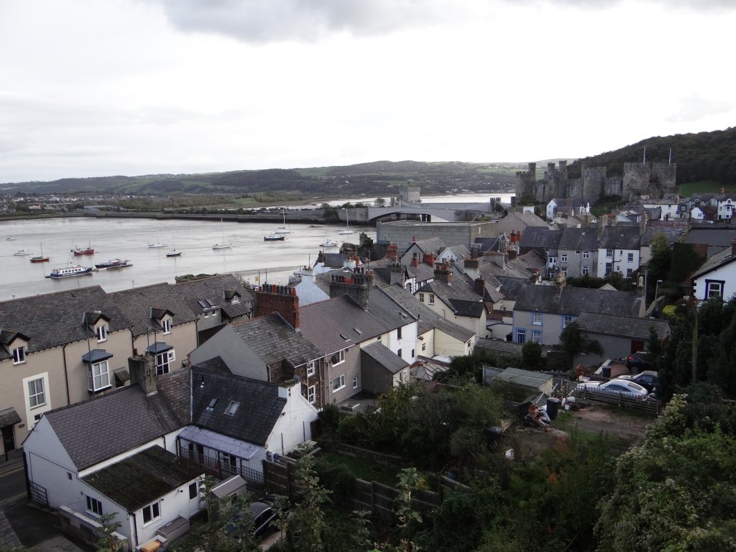 Beautiful view towards Conwy Castle